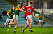 29 December 2019; Brian Hartnett of Cork in action against Sean O'Connell of Kerry during the 2020 McGrath Cup Group B match between Kerry and Cork at Austin Stack Park in Tralee, Kerry. Photo by Brendan Moran/Sportsfile