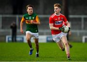 29 December 2019; Paul Ring of Cork in action against Killian Falvey of Kerry during the 2020 McGrath Cup Group B match between Kerry and Cork at Austin Stack Park in Tralee, Kerry. Photo by Brendan Moran/Sportsfile