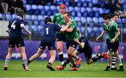 2 January 2020; Grant Palmer of South East Area is tackled by Max McLoughlin of North Midlands Area during the Shane Horgan Cup Round 3 match between North Midlands Area and South East Area at Energia Park in Donnybrook, Dublin. Photo by David Fitzgerald/Sportsfile