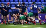 2 January 2020; Jamie Tobin of South East Area goes over to score his side's third try during the Shane Horgan Cup Round 3 match between North Midlands Area and South East Area at Energia Park in Donnybrook, Dublin. Photo by David Fitzgerald/Sportsfile