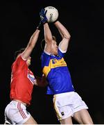 2 January 2020; Joseph Nyland of Tipperary in action against Peter O'Driscoll of Cork during the 2020 McGrath Cup Group B match between Cork and Tipperary at Mallow GAA Grounds in Mallow, Co Cork. Photo by Eóin Noonan/Sportsfile