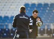 3 January 2020; Peter Dooley, right, during a Leinster Rugby captain's run at the RDS Arena in Dublin. Photo by Seb Daly/Sportsfile