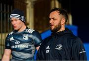 3 January 2020; Jamison Gibson-Park, right, and Ciarán Frawley during a Leinster Rugby captain's run at the RDS Arena in Dublin. Photo by Seb Daly/Sportsfile