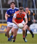 29 December 2019; Oisin O'Neill of Armagh and Oisin Kiernan of Cavan during the Bank of Ireland Dr McKenna Cup Round 1 match between Cavan and Armagh at Kingspan Breffni in Cavan. Photo by Ben McShane/Sportsfile
