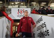 3 January 2020; Andrew Conway of Munster arrives prior to the Guinness PRO14 Round 10 match between Ulster and Munster at Kingspan Stadium in Belfast. Photo by Harry Murphy/Sportsfile
