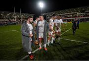 3 January 2020; Marty Moore, left, and Jack McGrath of Ulster following the Guinness PRO14 Round 10 match between Ulster and Munster at Kingspan Stadium in Belfast. Photo by Ramsey Cardy/Sportsfile