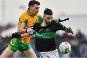 4 January 2020; Jack Horgan of Nemo Rangers is tackled by Ronan Steede of Corofin during the AIB GAA Football All-Ireland Senior Club Championship semi-final match between Corofin and Nemo Rangers at Cusack Park in Ennis, Clare. Photo by Brendan Moran/Sportsfile