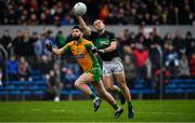 4 January 2020; Alan Cronin of Nemo Rangers in action against Martin Farragher of Corofin during the AIB GAA Football All-Ireland Senior Club Championship semi-final match between Corofin and Nemo Rangers at Cusack Park in Ennis, Clare. Photo by Brendan Moran/Sportsfile