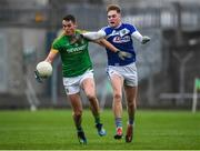 4 January 2020; Bryan Menton of Meath in action against Robert Tyrell of Laois during the 2020 O'Byrne Cup Round 2 match between Meath and Laois at Pairc Tailteann in Navan, Meath. Photo by Harry Murphy/Sportsfile