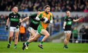 4 January 2020; Micheál Lundy of Corofin in action against Jack Horgan of Nemo Rangers during the AIB GAA Football All-Ireland Senior Club Championship semi-final match between Corofin and Nemo Rangers at Cusack Park in Ennis, Clare. Photo by Brendan Moran/Sportsfile