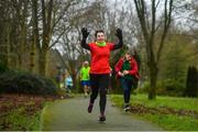 4 January 2020; Kathleen Brady from Navan during the Con Smith parkrun in partnership with Vhi at Con Smith park in Cavan. Parkrun Ireland in partnership with Vhi, added a new parkrun at Con Smith park in Cavan on Saturday, 4th January, with the introduction of the Con Smith parkrun. Parkruns take place over a 5km course weekly, are free to enter and are open to all ages and abilities, providing a fun and safe environment to enjoy exercise. To register for a parkrun near you visit www.parkrun.ie. Photo by David Fitzgerald/Sportsfile