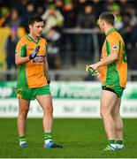 4 January 2020; Dylan Wall, left, and Ciarán McGrath of Corofin after the AIB GAA Football All-Ireland Senior Club Championship semi-final match between Corofin and Nemo Rangers at Cusack Park in Ennis, Clare. Photo by Brendan Moran/Sportsfile