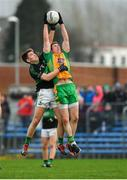 4 January 2020; Gary Sice of Corofin fields a kickout ahead of Kevin O'Donovan of Nemo Rangers during the AIB GAA Football All-Ireland Senior Club Championship semi-final match between Corofin and Nemo Rangers at Cusack Park in Ennis, Clare. Photo by Brendan Moran/Sportsfile