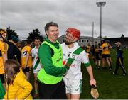 4 January 2020; Tullaroan manager Jimmy Coogan with Tommy Walsh of Tullaroan following the AIB GAA Hurling All-Ireland Intermediate Club Championship semi-final match between Tullaroan and Naomh Éanna at Parnell Park in Dublin. Photo by Eóin Noonan/Sportsfile