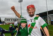 4 January 2020; Tommy Walsh of Tullaroan celebrates with young supporters following the AIB GAA Hurling All-Ireland Intermediate Club Championship semi-final match between Tullaroan and Naomh Éanna at Parnell Park in Dublin. Photo by Eóin Noonan/Sportsfile