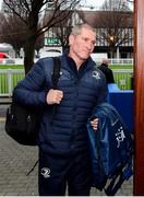 4 January 2020; Leinster senior coach Stuart Lancaster arrives prior to the Guinness PRO14 Round 10 match between Leinster and Connacht at the RDS Arena in Dublin. Photo by Sam Barnes/Sportsfile