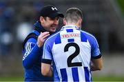 4 January 2020; Ballyboden St Enda's manager Anthony Rainbow with Bob Dwan before the AIB GAA Football All-Ireland Senior Club Championship semi-final match between Kilcoo and Ballyboden St Enda's at Kingspan Breffni in Cavan. Photo by Piaras Ó Mídheach/Sportsfile