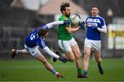 4 January 2020; Eoin Lynch of Meath in action against Gearoid Hanrahan of Laois during the 2020 O'Byrne Cup Round 2 match between Meath and Laois at Pairc Tailteann in Navan, Meath. Photo by Harry Murphy/Sportsfile