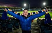 4 January 2020; Leinster supporter Christopher Delahunt, age 8, from Brittas Bay, Co Wicklow, prior to the Guinness PRO14 Round 10 match between Leinster and Connacht at the RDS Arena in Dublin. Photo by Seb Daly/Sportsfile