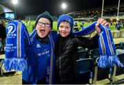 4 January 2020; Leinster supporters Cian, age 8, left, and Jack Collins, age 8, from Wicklow town, Co Wicklow, prior to the Guinness PRO14 Round 10 match between Leinster and Connacht at the RDS Arena in Dublin. Photo by Seb Daly/Sportsfile