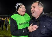 4 January 2020; Kilcoo manager Mickey Moran, left, is congratulated by Monaghan football manager Séamus McEnaney after the AIB GAA Football All-Ireland Senior Club Championship semi-final match between Kilcoo and Ballyboden St Enda's at Kingspan Breffni in Cavan. Photo by Piaras Ó Mídheach/Sportsfile