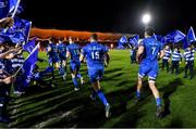 4 January 2020; Leinster players run out onto the field prior to the Guinness PRO14 Round 10 match between Leinster and Connacht at the RDS Arena in Dublin. Photo by Seb Daly/Sportsfile