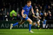4 January 2020; Ciarán Frawley of Leinster on his way to scoring his side's third try during the Guinness PRO14 Round 10 match between Leinster and Connacht at the RDS Arena in Dublin. Photo by Seb Daly/Sportsfile