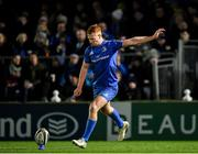 4 January 2020; Ciarán Frawley of Leinster kicks a conversion during the Guinness PRO14 Round 10 match between Leinster and Connacht at the RDS Arena in Dublin. Photo by Seb Daly/Sportsfile