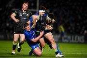 4 January 2020; Tom Daly of Connacht is tackled by Tadhg Furlong, left, and Max Deegan of Leinster  during the Guinness PRO14 Round 10 match between Leinster and Connacht at the RDS Arena in Dublin. Photo by Sam Barnes/Sportsfile