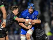 4 January 2020; Ryan Baird of Leinster is tackled by John Porch, left, and Kyle Godwin of Connacht during the Guinness PRO14 Round 10 match between Leinster and Connacht at the RDS Arena in Dublin. Photo by Seb Daly/Sportsfile