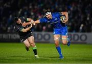 4 January 2020; Max Deegan of Leinster breaks through the tackle of Caolin Blade of Connacht during the Guinness PRO14 Round 10 match between Leinster and Connacht at the RDS Arena in Dublin. Photo by Sam Barnes/Sportsfile