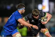 4 January 2020; Sean Masterson of Connacht is tackled by Caelan Doris of Leinster during the Guinness PRO14 Round 10 match between Leinster and Connacht at the RDS Arena in Dublin. Photo by Seb Daly/Sportsfile