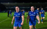 4 January 2020; Bryan Byrne, left, and Ed Byrne of Leinster following the Guinness PRO14 Round 10 match between Leinster and Connacht at the RDS Arena in Dublin. Photo by Ramsey Cardy/Sportsfile