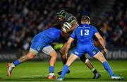 4 January 2020; Niyi Adeolokun of Connacht is tackled by Joe Tomane, left, and Garry Ringrose of Leinster during the Guinness PRO14 Round 10 match between Leinster and Connacht at the RDS Arena in Dublin. Photo by Seb Daly/Sportsfile