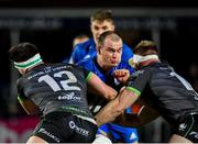 4 January 2020; Rhys Ruddock of Leinster is tackled by Tom Daly, left, and Tom McCartney of Connacht during the Guinness PRO14 Round 10 match between Leinster and Connacht at the RDS Arena in Dublin. Photo by Seb Daly/Sportsfile