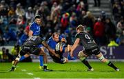 4 January 2020; Rhys Ruddock of Leinster in action against Niyi Adeolokun, left, and Niall Murray of Connacht during the Guinness PRO14 Round 10 match between Leinster and Connacht at the RDS Arena in Dublin. Photo by Seb Daly/Sportsfile