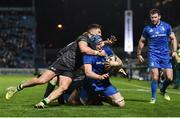 4 January 2020; Ryan Baird of Leinster is tackled by Tiernan O'Halloran of Connacht during the Guinness PRO14 Round 10 match between Leinster and Connacht at the RDS Arena in Dublin. Photo by Sam Barnes/Sportsfile