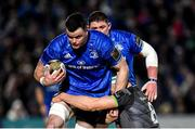 4 January 2020; James Ryan of Leinster is tackled by Robin Copeland of Connacht during the Guinness PRO14 Round 10 match between Leinster and Connacht at the RDS Arena in Dublin. Photo by Seb Daly/Sportsfile