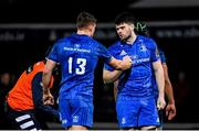 4 January 2020; Garry Ringrose, 13, and Harry Byrne of Leinster during the Guinness PRO14 Round 10 match between Leinster and Connacht at the RDS Arena in Dublin. Photo by Ramsey Cardy/Sportsfile