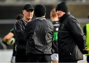 4 January 2020; Nemo Rangers manager Paul O'Donovan, left, and selector Billy Morgan prior to the AIB GAA Football All-Ireland Senior Club Championship semi-final match between Corofin and Nemo Rangers at Cusack Park in Ennis, Clare. Photo by Brendan Moran/Sportsfile