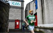 5 January 2020; Eoin Reid of Ballyhale Shamrocks runs out prior to the AIB GAA Hurling All-Ireland Senior Club Championship semi-final between Ballyhale Shamrocks and Slaughtnell at Pairc Esler in Newry, Co. Down. Photo by David Fitzgerald/Sportsfile