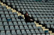 5 January 2020; A supporter watches on from the stands during the 2020 Walsh Cup Round 3 match between Dublin and Carlow at Parnell Park in Dublin. Photo by Sam Barnes/Sportsfile