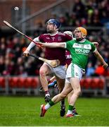 5 January 2020; Richie Reid of Ballyhale Shamrocks in action against Meehaul McGrath of Slaughtneil during the AIB GAA Hurling All-Ireland Senior Club Championship semi-final between Ballyhale Shamrocks and Slaughtnell at Pairc Esler in Newry, Co. Down. Photo by David Fitzgerald/Sportsfile