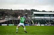 5 January 2020; TJ Reid of Ballyhale Shamrocks takes a free during the AIB GAA Hurling All-Ireland Senior Club Championship semi-final between Ballyhale Shamrocks and Slaughtnell at Pairc Esler in Newry, Co. Down. Photo by David Fitzgerald/Sportsfile