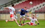 5 January 2020; Conn Kilpatrick and Kyle Coney of Tyrone in action against Ciaran Brady of Cavan during the Bank of Ireland Dr McKenna Cup Round 2 match between Tyrone and Cavan at Healy Park in Omagh, Tyrone. Photo by Oliver McVeigh/Sportsfile