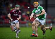 5 January 2020; Colin Fennelly of Ballyhale Shamrocks in action against Gerald Bradley of Slaughtneil during the AIB GAA Hurling All-Ireland Senior Club Championship semi-final between Ballyhale Shamrocks and Slaughtnell at Pairc Esler in Newry, Co. Down. Photo by David Fitzgerald/Sportsfile