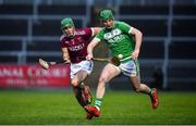 5 January 2020; Eoin Cody of Ballyhale Shamrocks in action against Karl McKaigue of Slaughtneil during the AIB GAA Hurling All-Ireland Senior Club Championship semi-final between Ballyhale Shamrocks and Slaughtnell at Pairc Esler in Newry, Co. Down. Photo by David Fitzgerald/Sportsfile