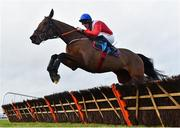 5 January 2020; Envoi Allen, with Davy Russell up, jumps the last during the first circuit on their way to winning the Lawlor's Of Naas Novice Hurdle at Naas Racecourse in Naas, Co Kildare. Photo by Seb Daly/Sportsfile