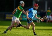 5 January 2020; Lorcan McMullan of Dublin in action against Kevin McDonald of Carlow during the 2020 Walsh Cup Round 3 match between Dublin and Carlow at Parnell Park in Dublin. Photo by Sam Barnes/Sportsfile
