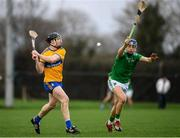 5 January 2020; Tony Kelly of Clare in action against David Reidy of Limerick during the Co-op Superstores Munster Hurling League 2020 Group A match between Clare and Limerick at O'Garney Park in Sixmilebridge, Clare. Photo by Harry Murphy/Sportsfile